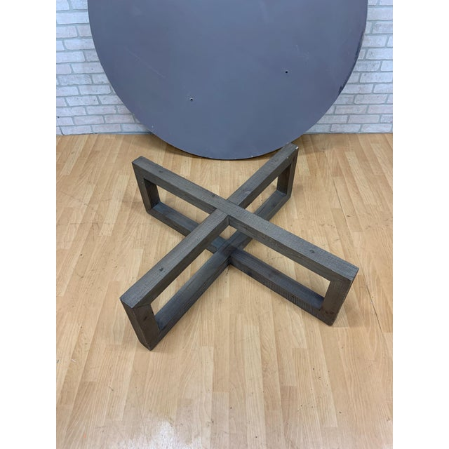 Restoration Hardware Heston Round Coffee Table For Sale In Chicago - Image 6 of 8