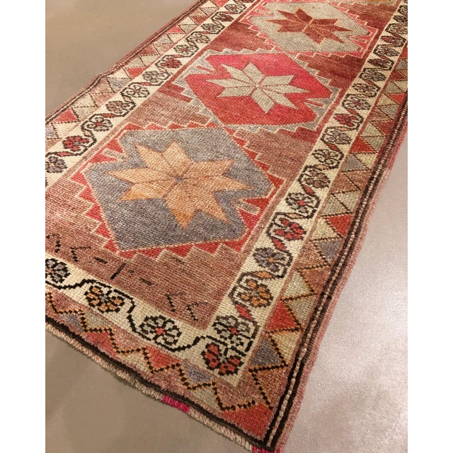 """Rustic 1910's Anatolian Runner-2'10 X 10'10"""" For Sale - Image 3 of 6"""