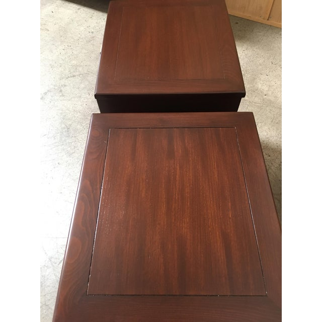Mid-Century Modern Edward Wormley for Drexel Wood Precedent Nightstands - a Pair For Sale In Los Angeles - Image 6 of 11