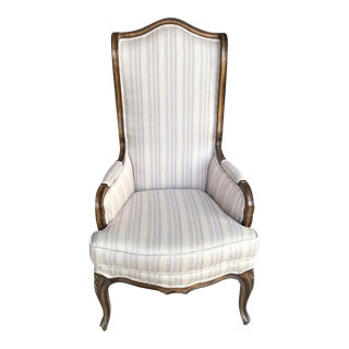 1940s French Provincial Wingback Chair For Sale