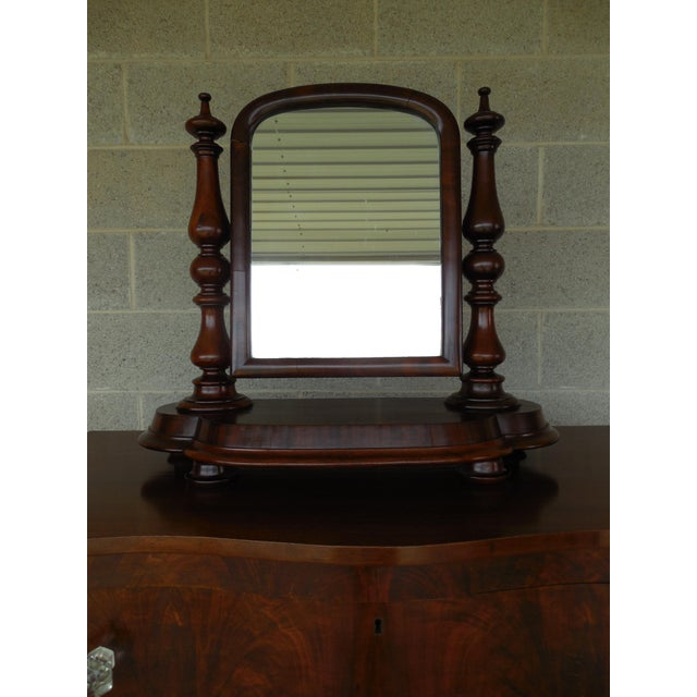 Wood Antique Empire Period Mahogany Dressing Mirror For Sale - Image 7 of 13