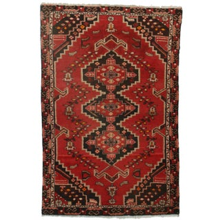 RugsinDallas Hand-Knotted Wool Persian Hamedan - 4′3″ × 6′7″ For Sale