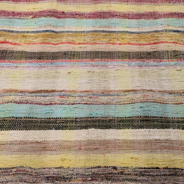Rug & Kilim Vintage Chaput Geometric Striped Beige-Brown and Multicolor Wool Kilim Runner Rug For Sale - Image 4 of 7