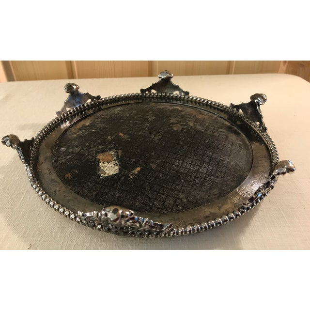 Vintage Silverplate Mirrored Plateau Stand - Image 9 of 10