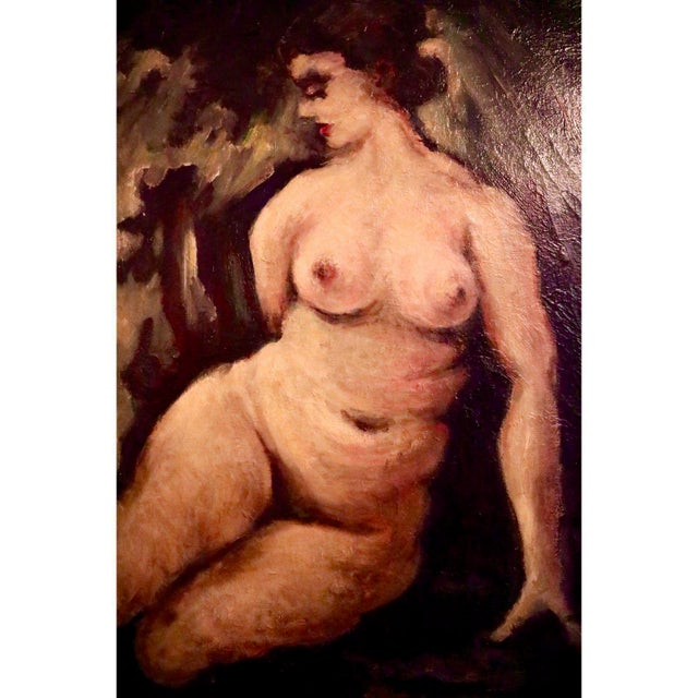 """American Classical """"Nude"""" Oil on Canvas Painting For Sale - Image 3 of 6"""