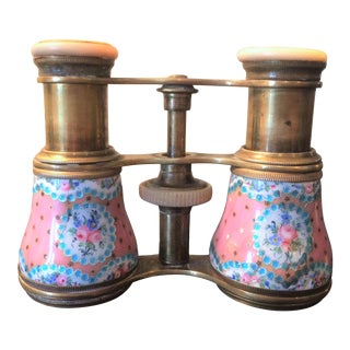 French Enameled Lemarie Opera Glasses For Sale