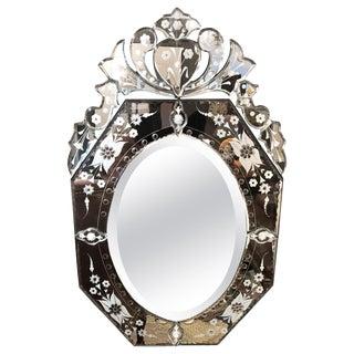 Glitzy Medium Sized Venetian Mirror For Sale