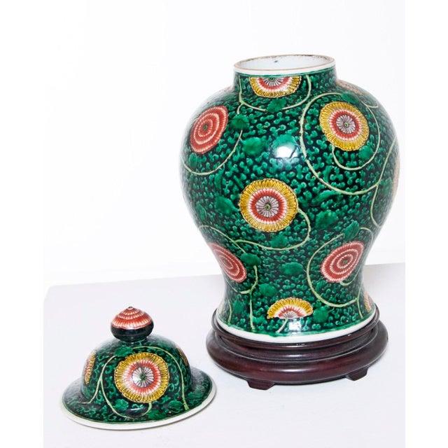 Ceramic Famille Verte Temple Jar For Sale - Image 7 of 7