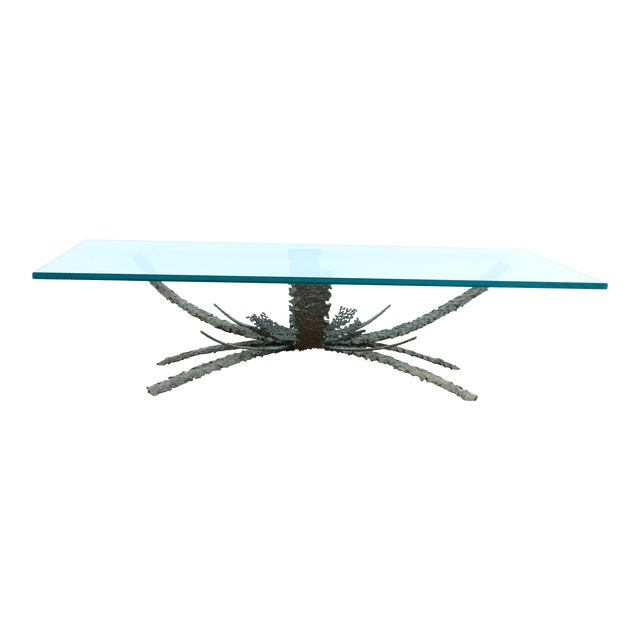 1960's Brutalist Bronze Coffee Table by Daniel Gluck For Sale