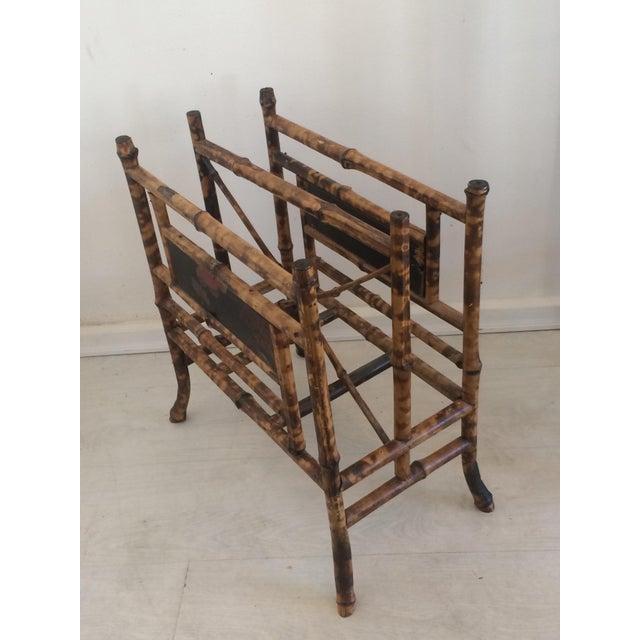 19th Century Boho Chic Bamboo Magazine Rack For Sale - Image 9 of 9