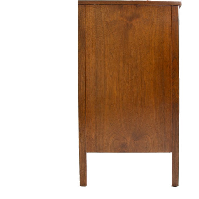 Mid-Century Modern Paul McCobb for Calvin Nightstand in Walnut and Aluminum, Circa 1960s For Sale - Image 3 of 7