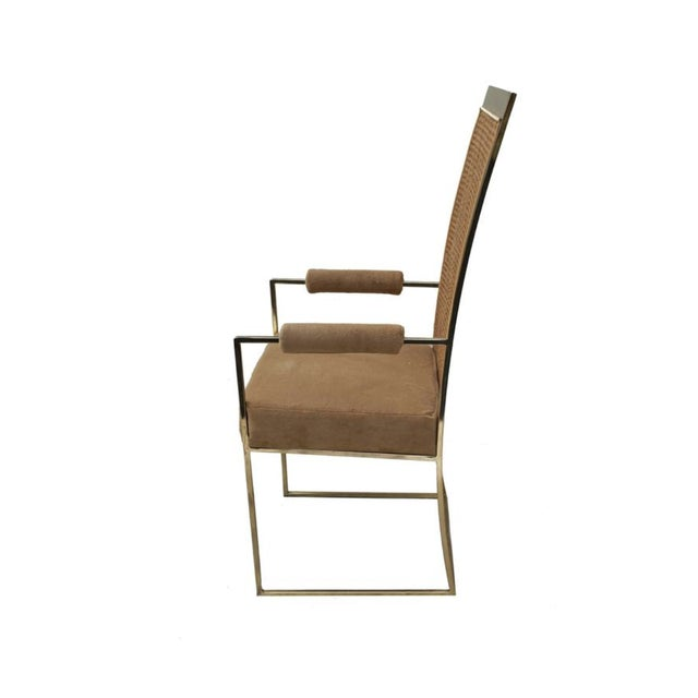 Final Markdown > Milo Baughman for Thayer Coggin Cane Back Arm Chairs - Pair - Image 7 of 9