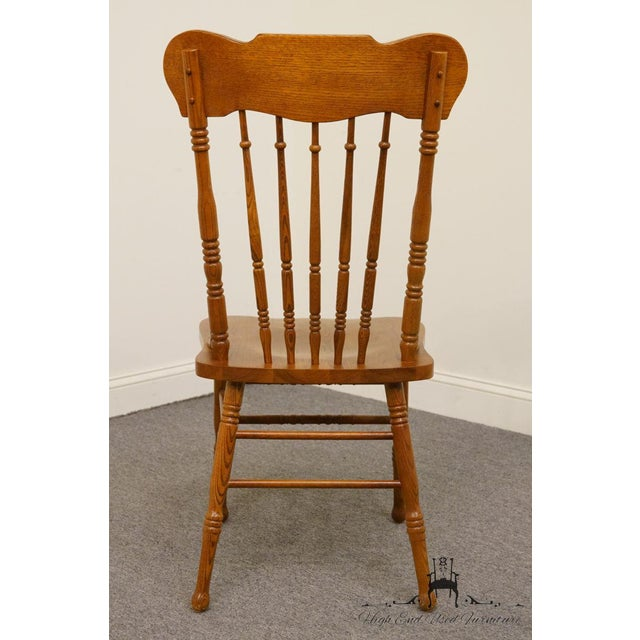 Lexington Furniture Victoriana Series Solid Oak Desk / Accent Chair 610-537 For Sale In Kansas City - Image 6 of 9