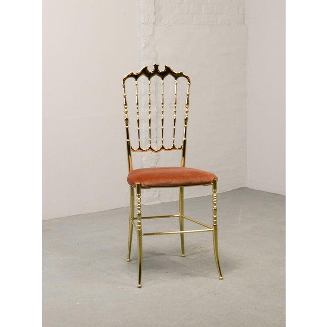1950s Mid-Century Italian Design Side Chair by Giuseppe Gaetano Descalzi for Chiavari, Italy, 1950s For Sale - Image 5 of 11