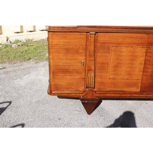 1940s Master Piece French Art Deco Sideboard / Buffet Rosewood By Jules Leleu Circa 1940s For Sale - Image 5 of 11