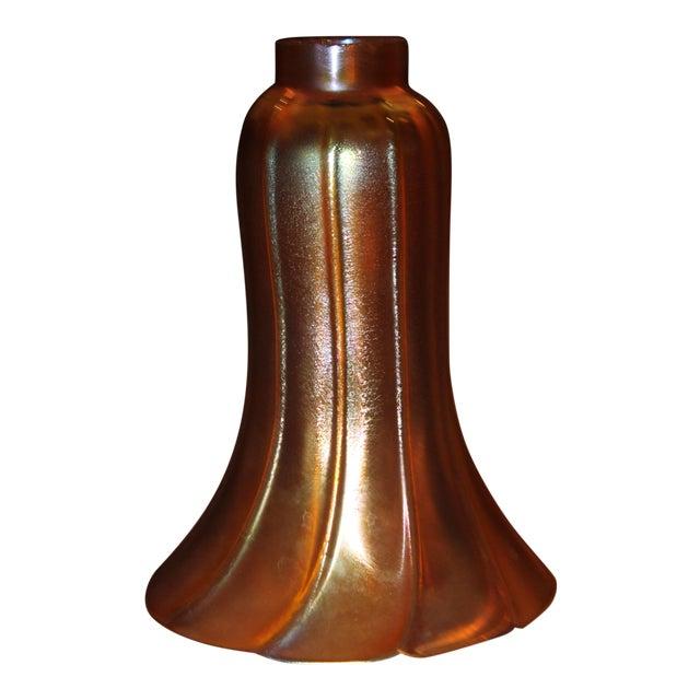 Frederic Carder Steuben Glassworks Gold Aurene Lamp Post For Sale