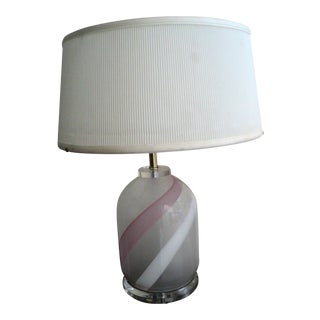 1970's Bauer Lucite & Glass Table Lamp For Sale