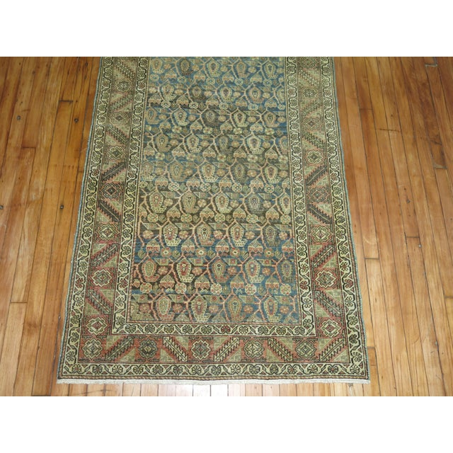 Early 20th Century Antique Persian Malayer Runner, 3'4'' X 20'2'' For Sale - Image 5 of 11