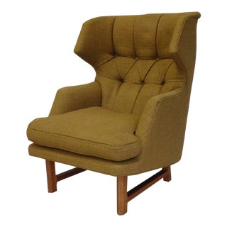Edward Wormley for Dunbar Modernist Wingback Lounge Chair For Sale