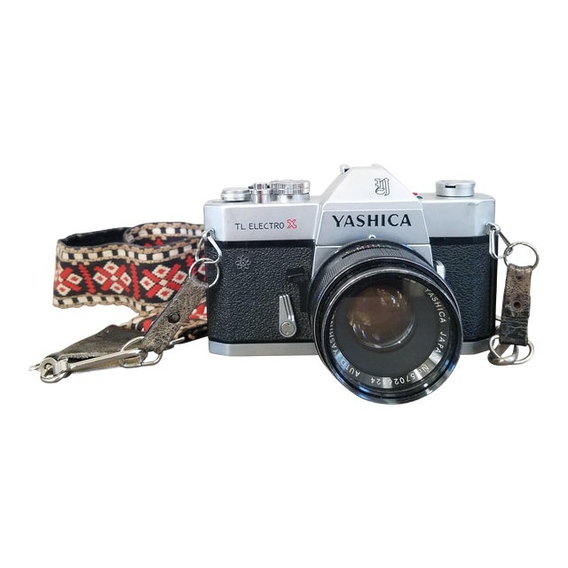 Vintage Yashica Camera with Strap For Sale