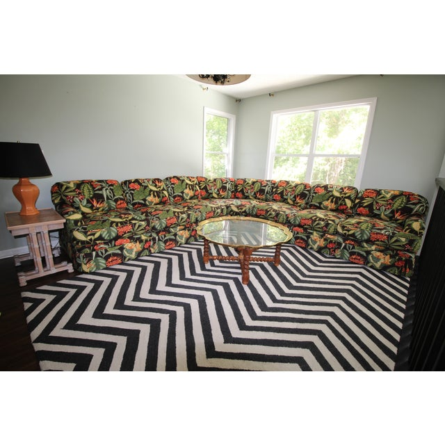 Drexel Heritage Tropical Print Sectional Sofa - Image 5 of 7