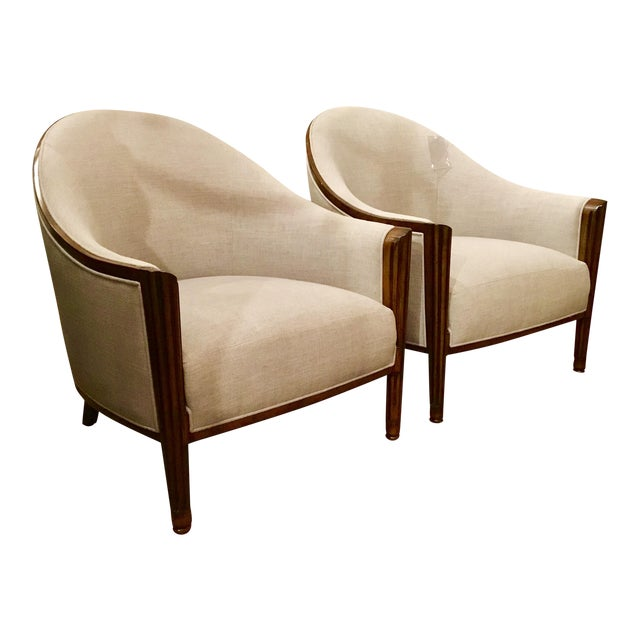pair of john richards art deco style chairs chairish