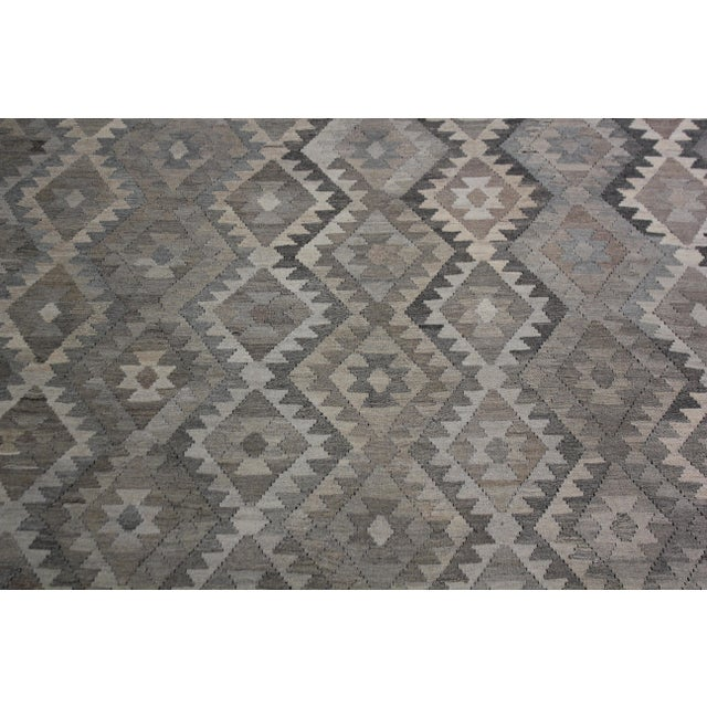 """Hand-Knotted Modern Kilim by Aara Rugs - 9'7"""" x 7'1"""" For Sale - Image 4 of 6"""
