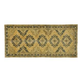 Vintage Turkish Oushak Gallery Rug, Wide Hallway Runner - 05'03 X 11'06 For Sale