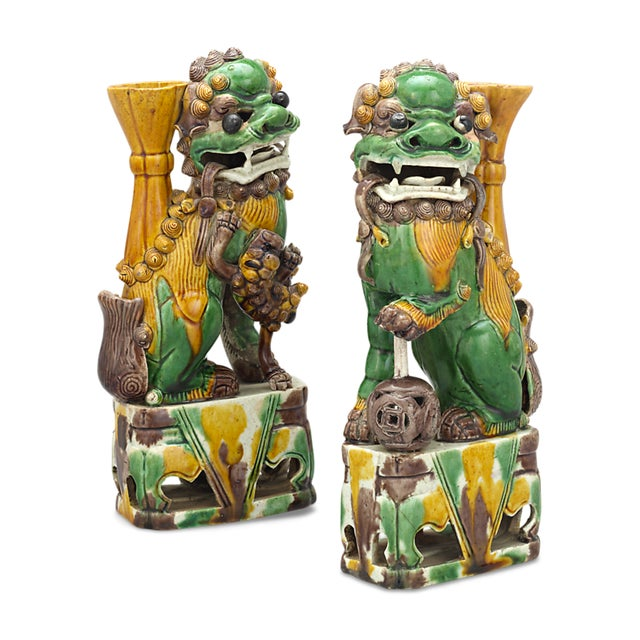 Qing Dynasty Chinese Foo Dog Totems For Sale - Image 4 of 5
