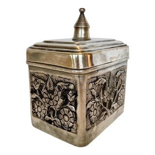Silver Plate Sarreid Box From 70's For Sale