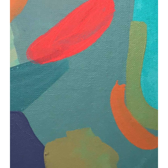 "Abstract Contemporary Abstract Portrait Painting ""Let's Chat, No. 2"" For Sale - Image 3 of 7"