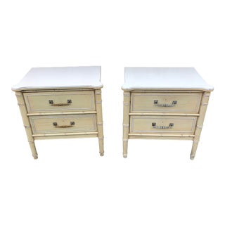 1960s Asian Henry Link Bali Hai Side Tables - a Pair For Sale