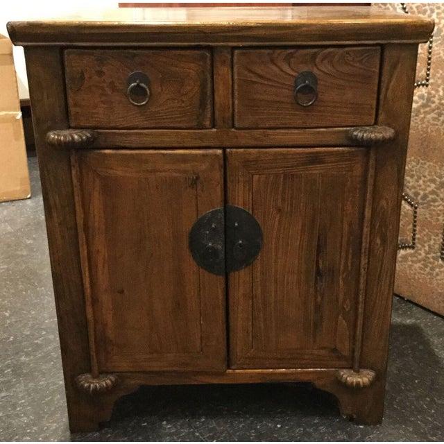 Vintage Wooden Asian Cabinet - Image 2 of 7 - Vintage Wooden Asian Cabinet Chairish