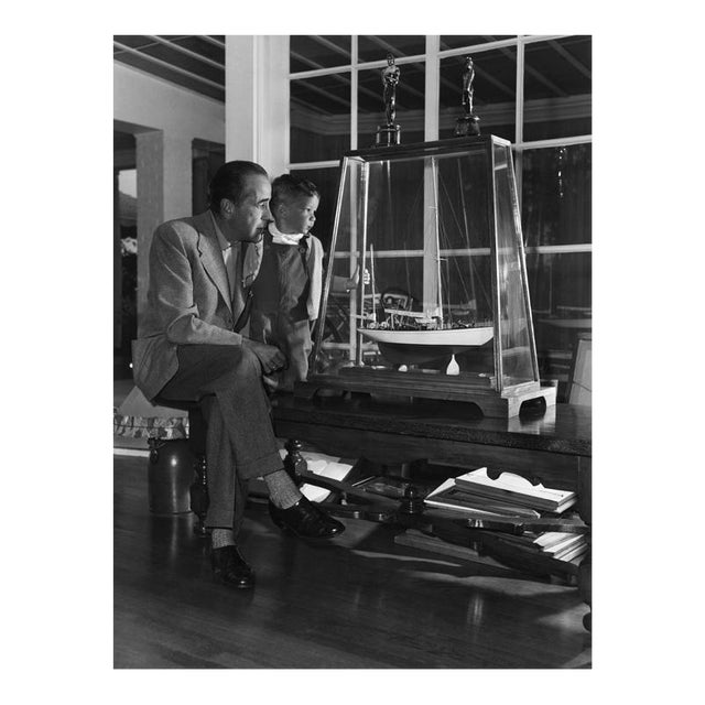 Humphrey Bogart and Son, Stephen, at Home 1952 For Sale