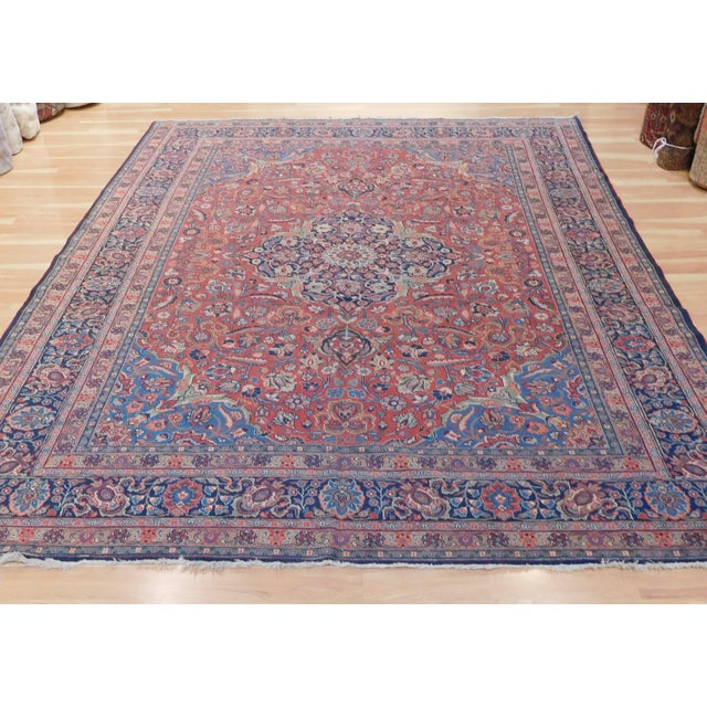 """This is an old authentic Persian tabriz rug in excellent condition, beautiful colors. Dimensions 8'3""""x 11'3""""."""