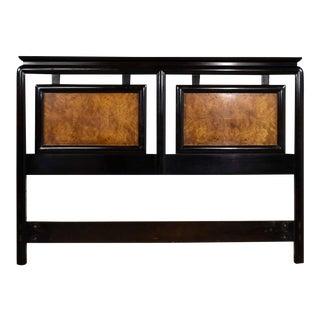 Chin Hua Black & Burlwood Full-Size Headboard by Raymond Sobota for Century Furniture For Sale