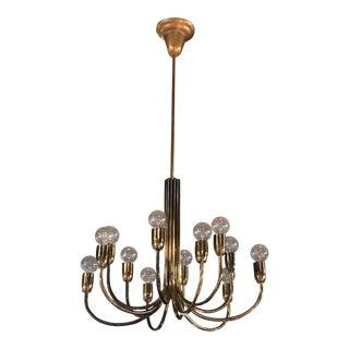 Italian Brass Chandelier 12 lights