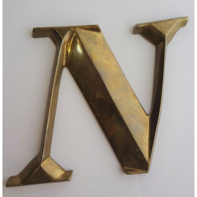 Italian Brass Letter N - Image 2 of 4