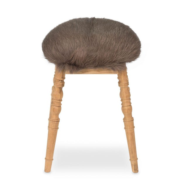 Sarreid LTD Brown 'Winoma' Stool For Sale In Raleigh - Image 6 of 7