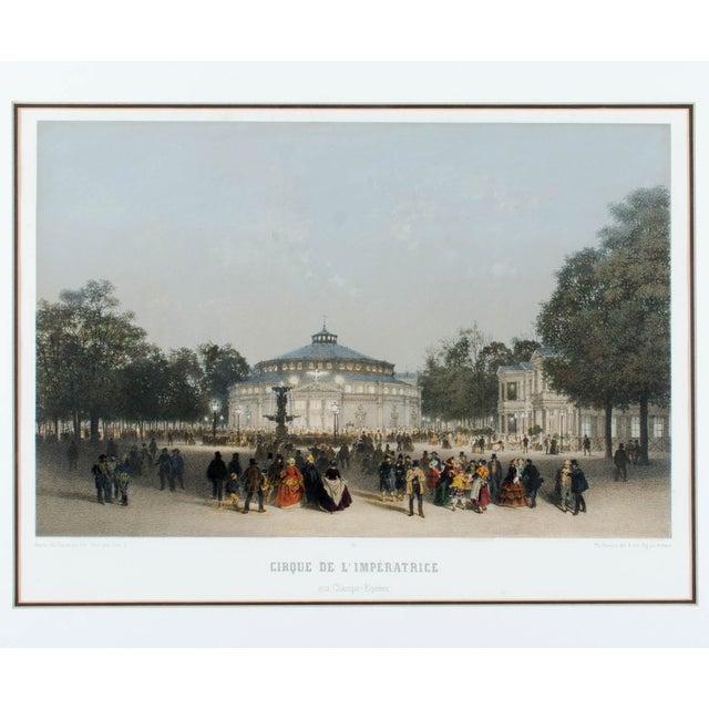 Cirque de l'Impératrice aux Champs-Elysées from Paris dans sa Splendeur by Henri Charpentier. Art by Philippe Benoist....