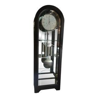 Howard Millar Glass Grandfather Clock For Sale