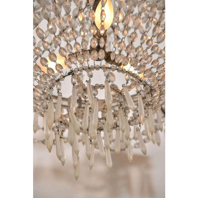 Gray Seven-Light Crystal Chandelier For Sale - Image 8 of 10