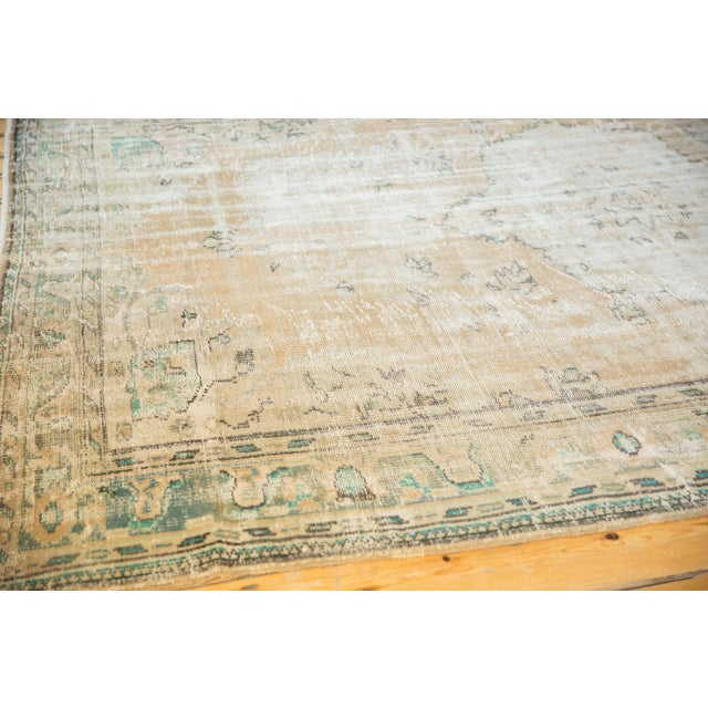 "Vintage Distressed Oushak Carpet - 7'2"" X 10'1"" For Sale - Image 9 of 13"