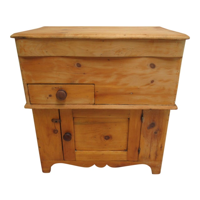 Late 19th Century Antique Pine Dry Sink Cabinet - Late 19th Century Antique Pine Dry Sink Cabinet Chairish