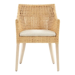 Blora Arm Chair, Beige, Rattan For Sale
