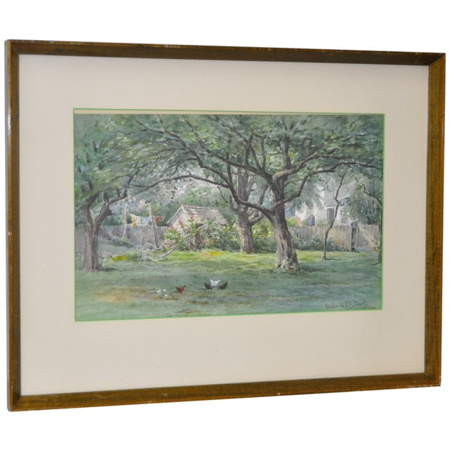 Watercolor by Frederick Stuart C.1900 For Sale
