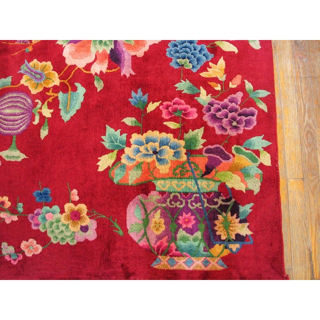 "1930s Chinese Art Deco Rug - 8'9""x11'6"" For Sale In New York - Image 6 of 10"