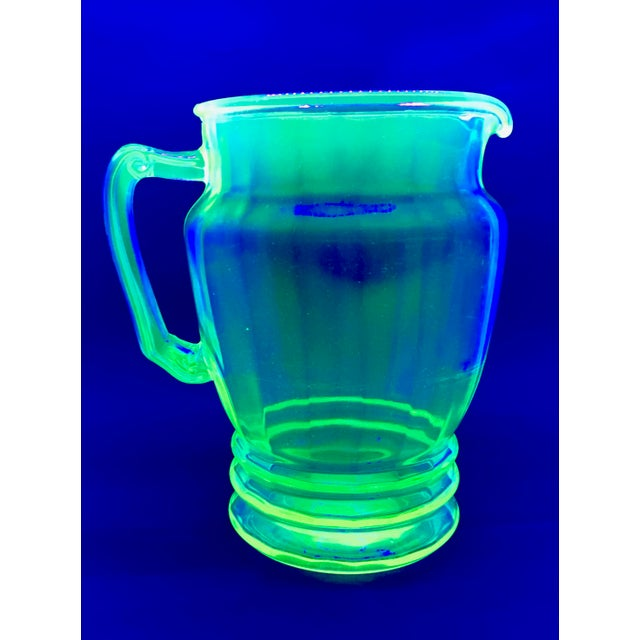 Anchor Hocking Green Uranium Glass Pitcher - Image 9 of 10