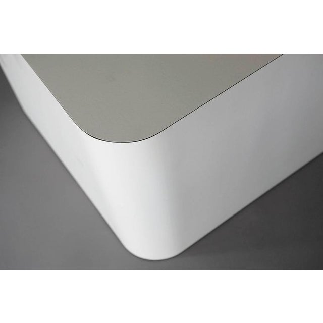 White Custom Made White Laminate Cubic End Table or Pedestal, Large For Sale - Image 8 of 8