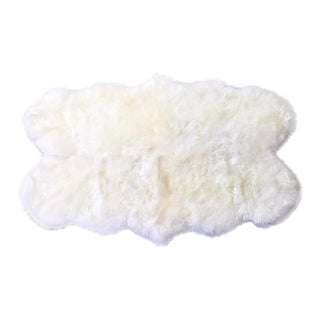 Forsyth Ivory Quad Sheepskin Rug - 3′7″ × 6′ For Sale